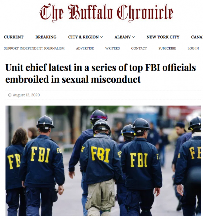 Unit chief latest in a series of top FBI officials embroiled in sexual misconduct